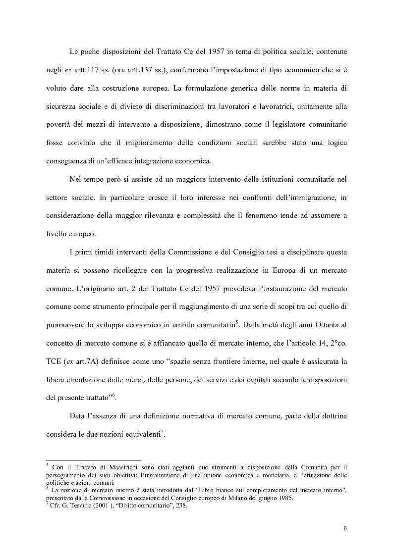 Anteprima della tesi: L'integrazione dei cittadini dei paesi terzi in Europa, Pagina 7