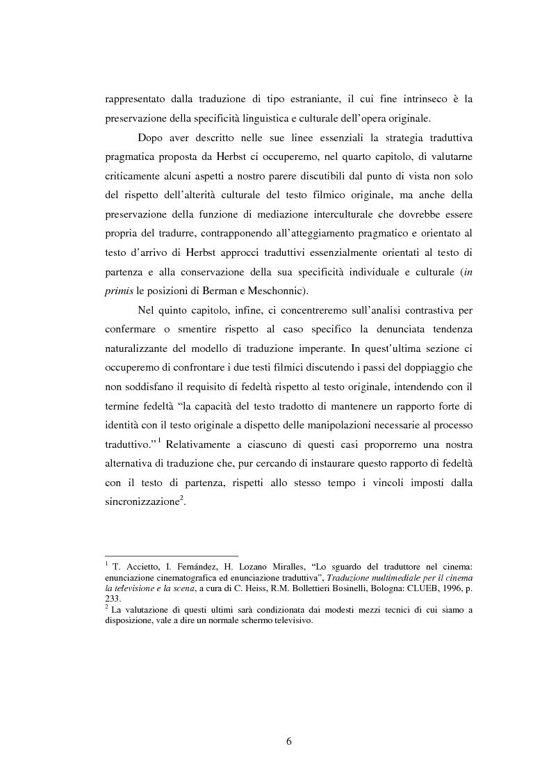 Anteprima della tesi: La traduzione del testo filmico: ''Die bleierne Zeit'' e la sua versione italiana a confronto, Pagina 3
