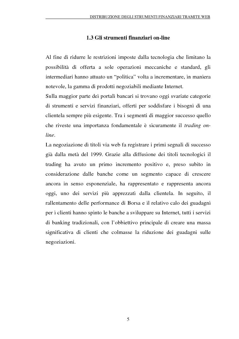 Anteprima della tesi: Il trading on-line e la distribuzione degli strumenti finanziari attraverso il web: analisi delle variabili fondamentali per la realizzazione di un vantaggio competitivo, Pagina 10
