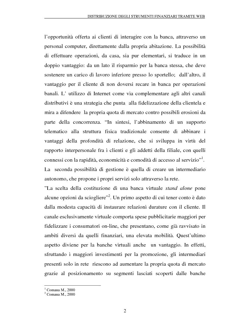 Anteprima della tesi: Il trading on-line e la distribuzione degli strumenti finanziari attraverso il web: analisi delle variabili fondamentali per la realizzazione di un vantaggio competitivo, Pagina 7