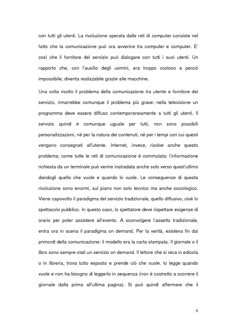 Anteprima della tesi: Strategie comunicative delle televisioni sul web, Pagina 4