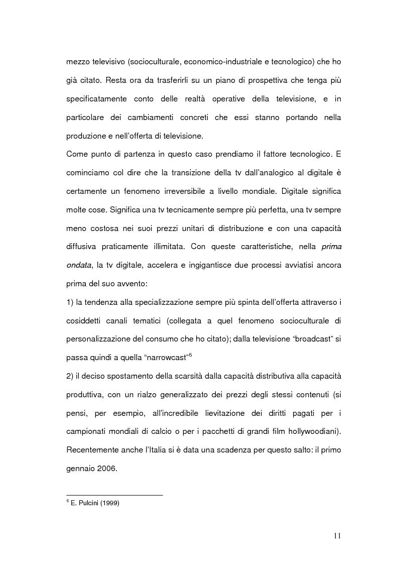 Anteprima della tesi: Strategie comunicative delle televisioni sul web, Pagina 9