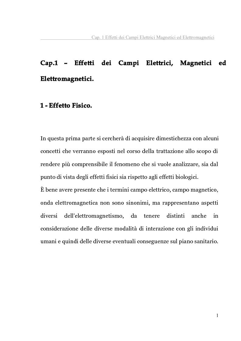 Anteprima della tesi: Analisi tecnica normativa e giuridica sull'elettrosmog a bassa frequenza, Pagina 6