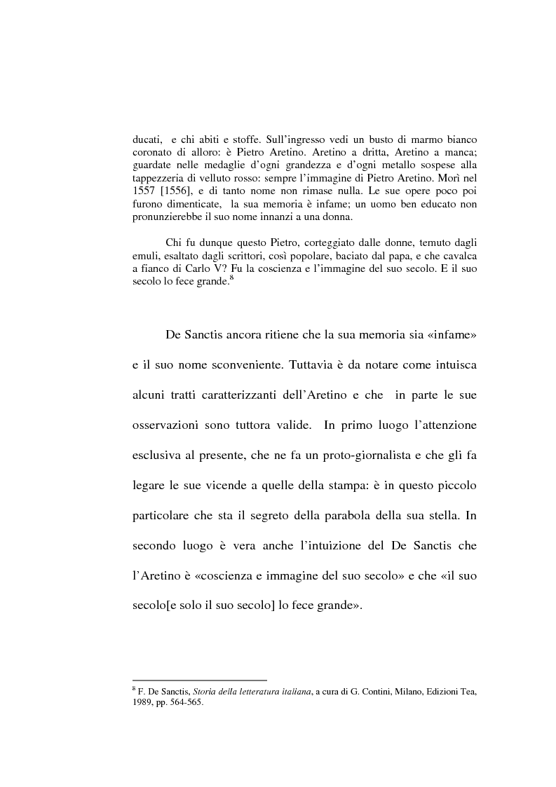 Anteprima della tesi: ''Io non son cieco ne la pittura'' Pietro Aretino e le arti figurative, Pagina 11
