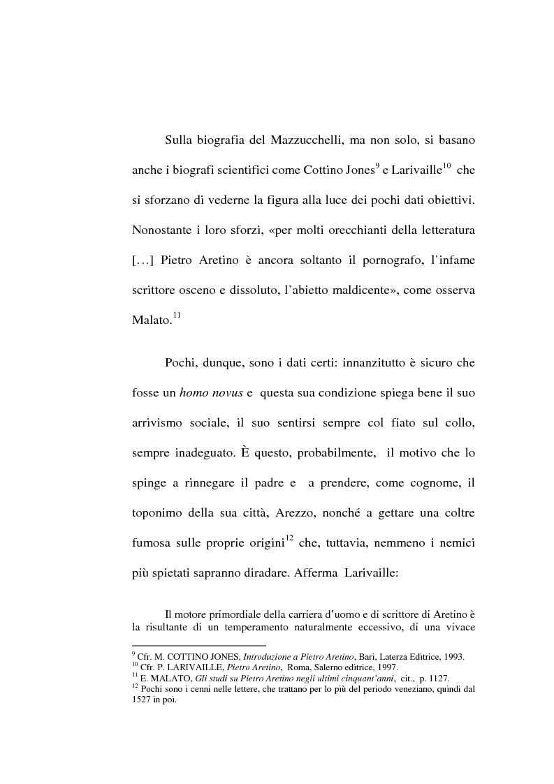Anteprima della tesi: ''Io non son cieco ne la pittura'' Pietro Aretino e le arti figurative, Pagina 12
