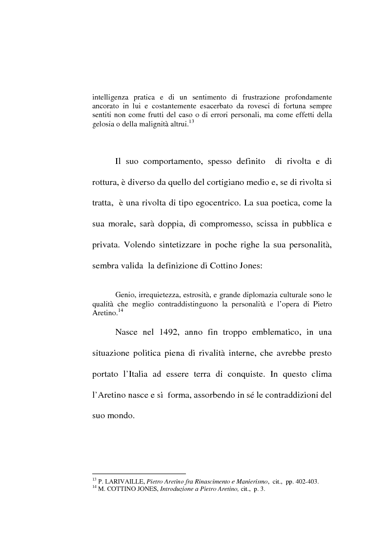 Anteprima della tesi: ''Io non son cieco ne la pittura'' Pietro Aretino e le arti figurative, Pagina 13