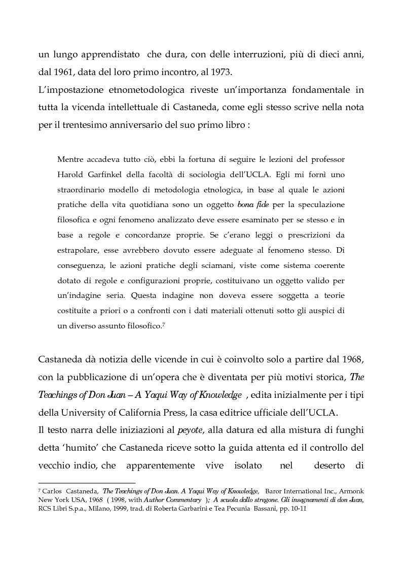 Anteprima della tesi: I testi di Carlos Castaneda e la risocializzazione del loro lettore, Pagina 10