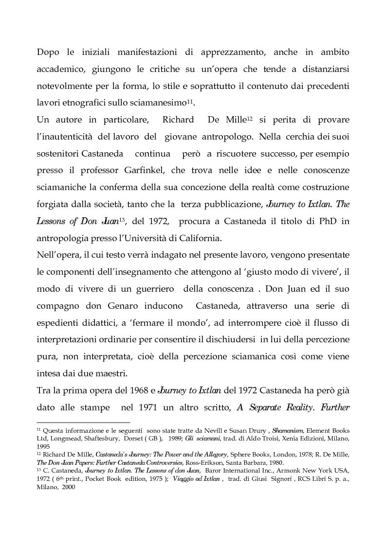Anteprima della tesi: I testi di Carlos Castaneda e la risocializzazione del loro lettore, Pagina 12