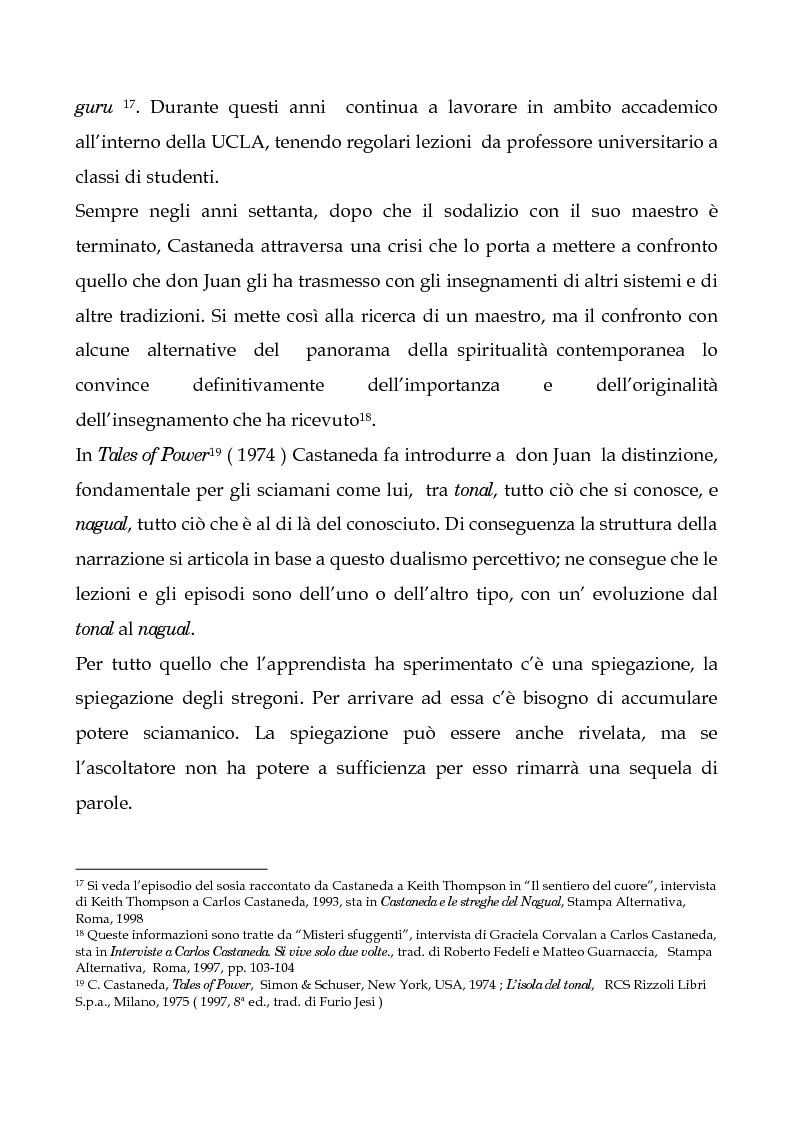 Anteprima della tesi: I testi di Carlos Castaneda e la risocializzazione del loro lettore, Pagina 14