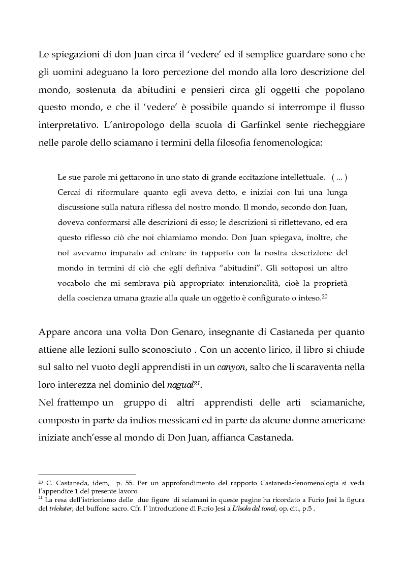 Anteprima della tesi: I testi di Carlos Castaneda e la risocializzazione del loro lettore, Pagina 15