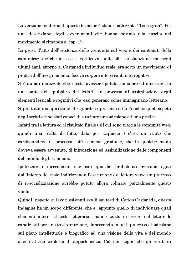 Anteprima della tesi: I testi di Carlos Castaneda e la risocializzazione del loro lettore, Pagina 3