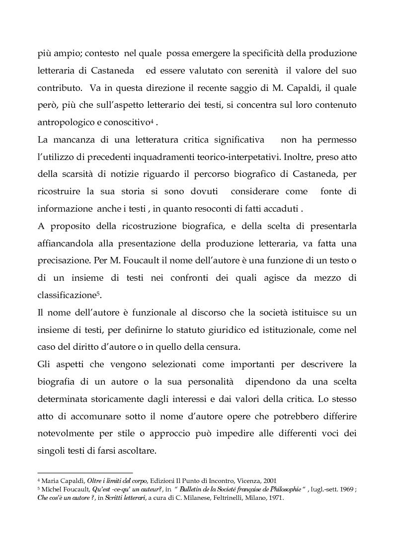 Anteprima della tesi: I testi di Carlos Castaneda e la risocializzazione del loro lettore, Pagina 8