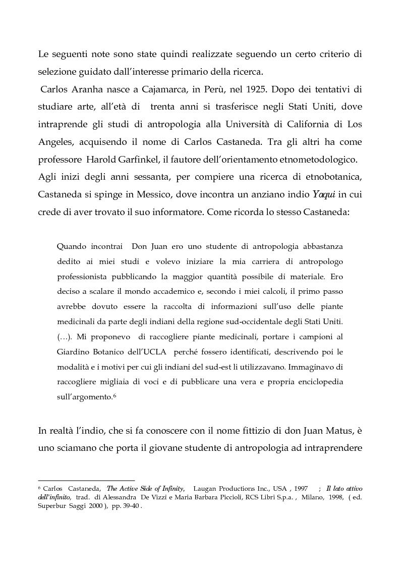 Anteprima della tesi: I testi di Carlos Castaneda e la risocializzazione del loro lettore, Pagina 9