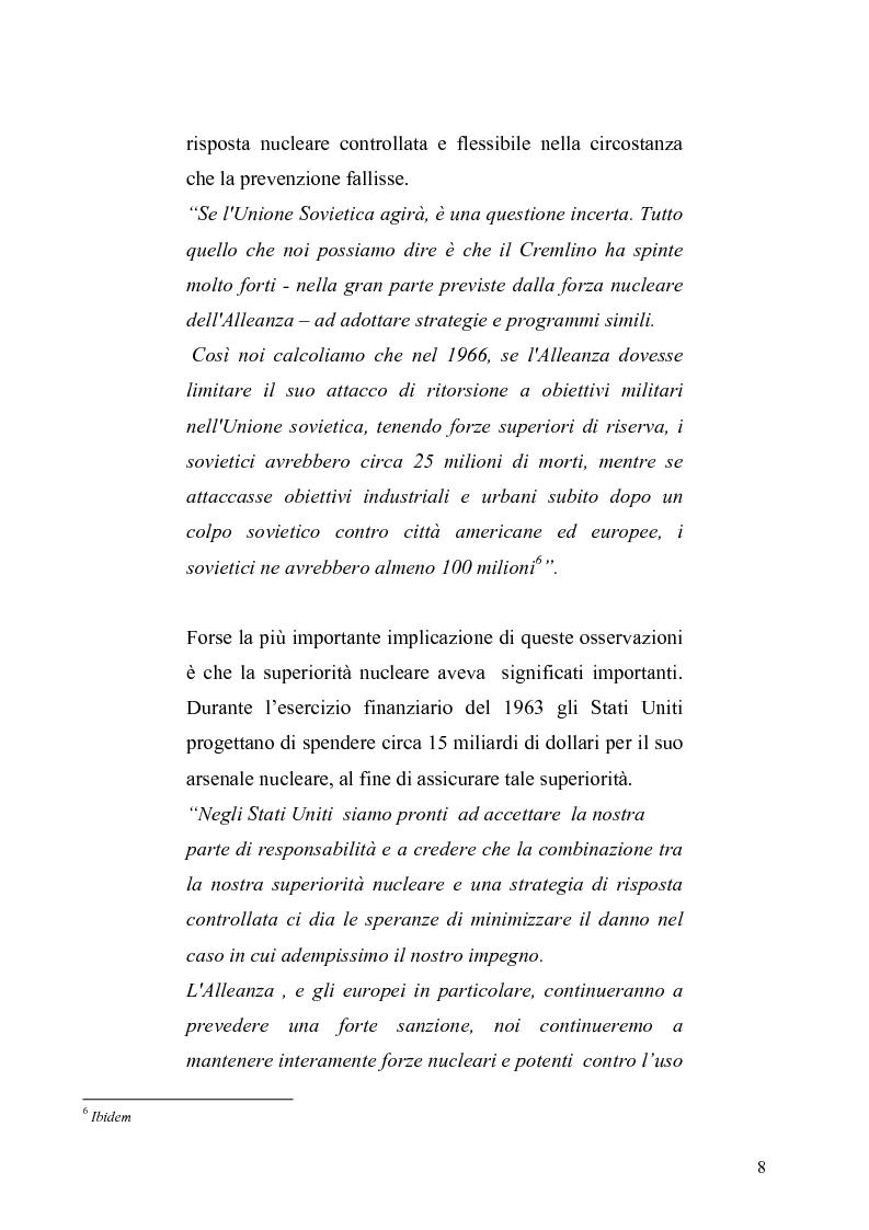 Anteprima della tesi: La dottrina della risposta flessibile: questioni di sicurezza europea e globale negli anni Sessanta, Pagina 5