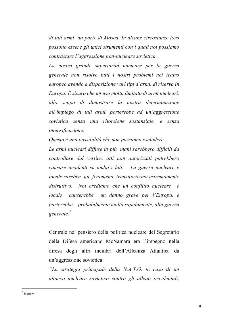 Anteprima della tesi: La dottrina della risposta flessibile: questioni di sicurezza europea e globale negli anni Sessanta, Pagina 6