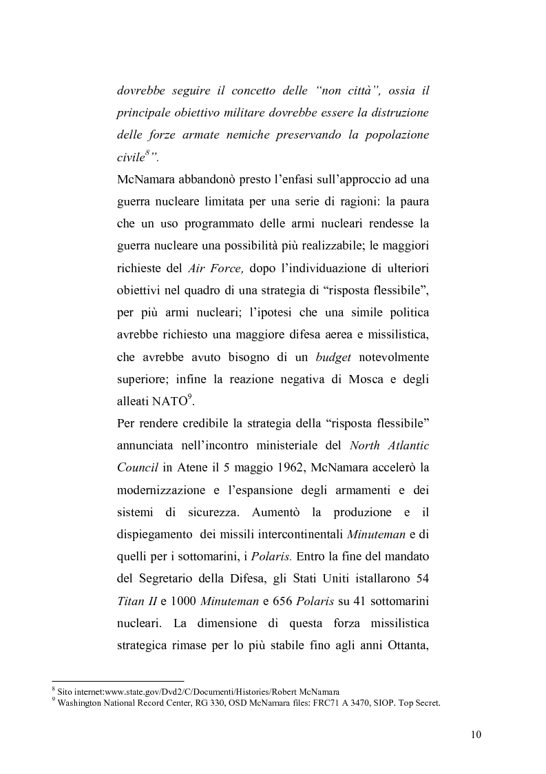 Anteprima della tesi: La dottrina della risposta flessibile: questioni di sicurezza europea e globale negli anni Sessanta, Pagina 7