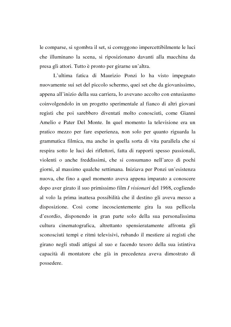 Anteprima della tesi: Maurizio Ponzi. Tra arte e mestiere, Pagina 2