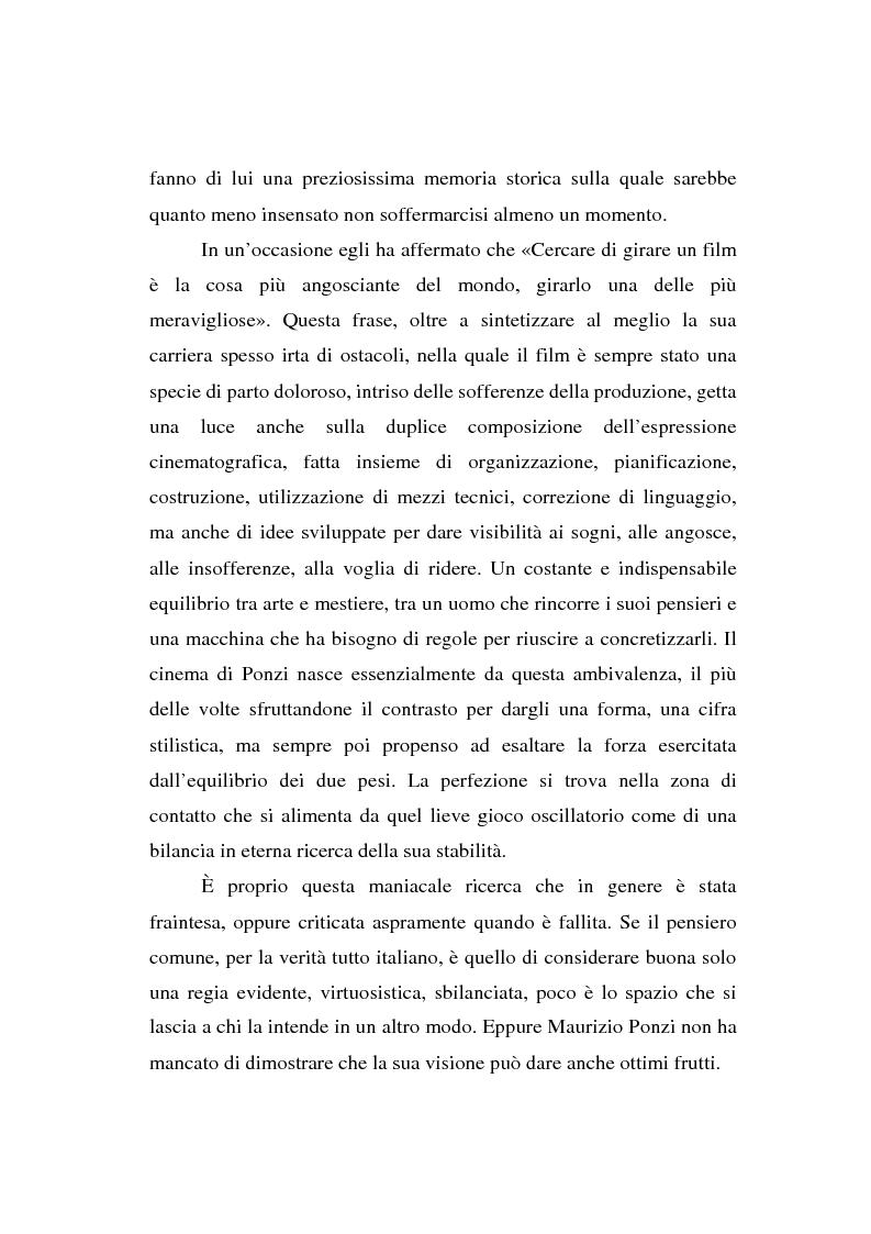 Anteprima della tesi: Maurizio Ponzi. Tra arte e mestiere, Pagina 7