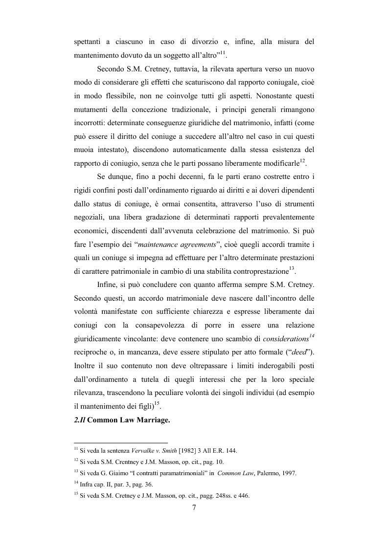 Anteprima della tesi: Il contratto di convivenza nel common law inglese, Pagina 10