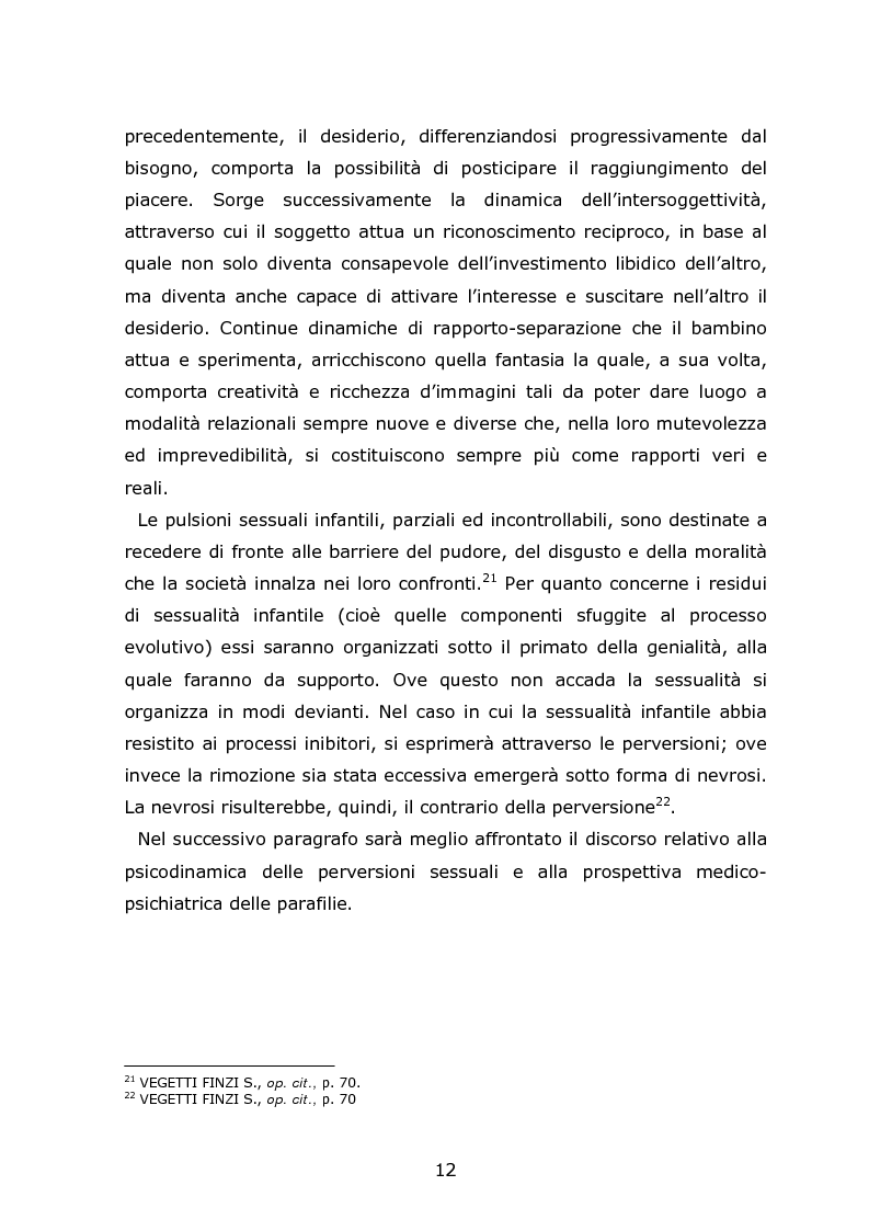 Anteprima della tesi: Autori di reati sessuali: analisi e prospettive trattamentali, Pagina 10