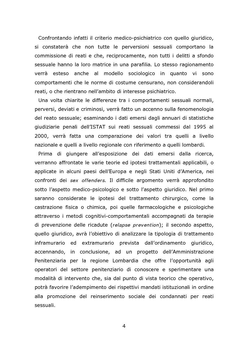 Anteprima della tesi: Autori di reati sessuali: analisi e prospettive trattamentali, Pagina 2