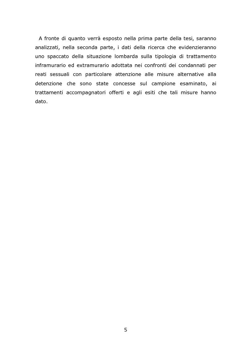 Anteprima della tesi: Autori di reati sessuali: analisi e prospettive trattamentali, Pagina 3
