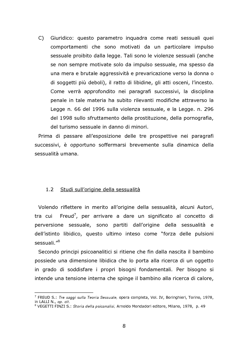 Anteprima della tesi: Autori di reati sessuali: analisi e prospettive trattamentali, Pagina 6