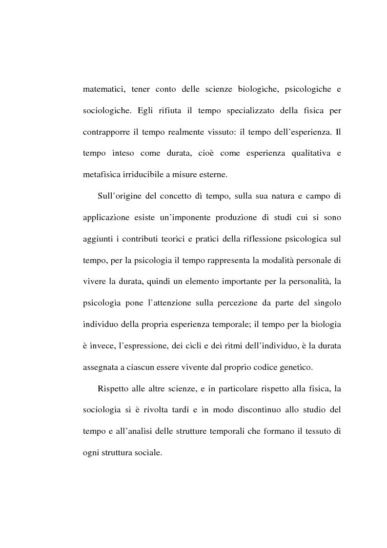 Anteprima della tesi: Il tempo, un mistero da esplorare: analisi sociologica al concetto di tempo, Pagina 5
