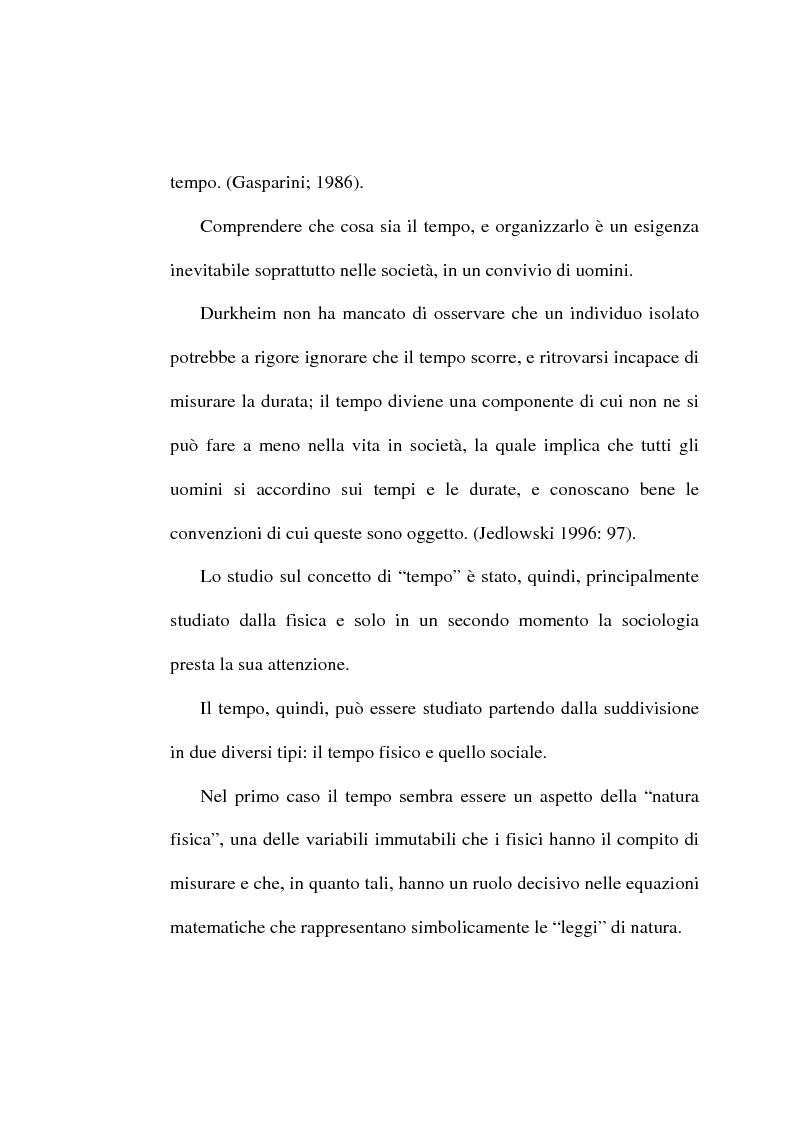 Anteprima della tesi: Il tempo, un mistero da esplorare: analisi sociologica al concetto di tempo, Pagina 7