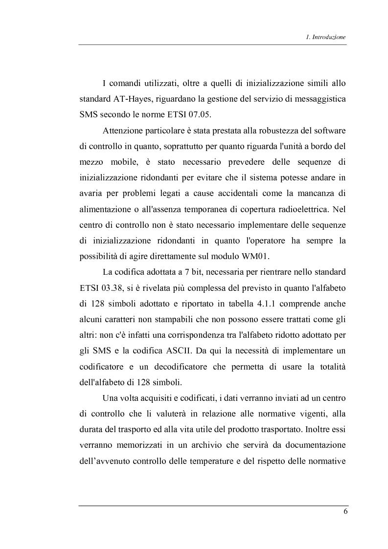 Anteprima della tesi: Trasmissione bidirezionale di dati di controllo tramite sms su reteradiomobile numerica, Pagina 6
