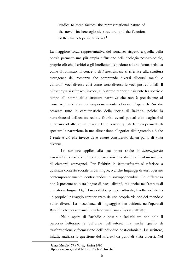 Anteprima della tesi: L'onirico, il visionario e l'ossessivo in Salman Rushdie: tematiche post-coloniali, Pagina 3