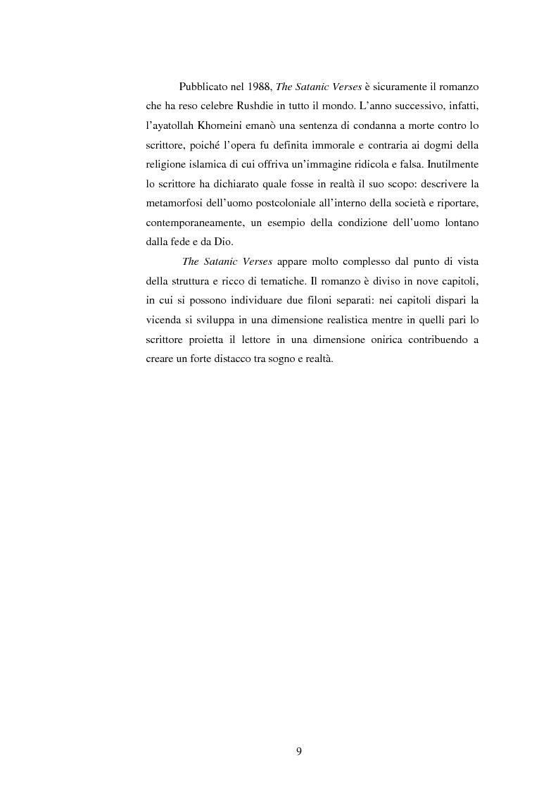 Anteprima della tesi: L'onirico, il visionario e l'ossessivo in Salman Rushdie: tematiche post-coloniali, Pagina 6