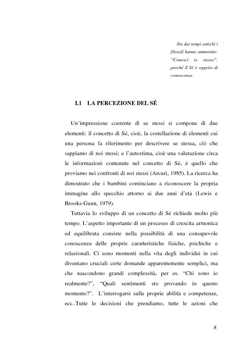 Anteprima della tesi: Percezione di sé e disabilità: Sé, corpo e ambiente, Pagina 6