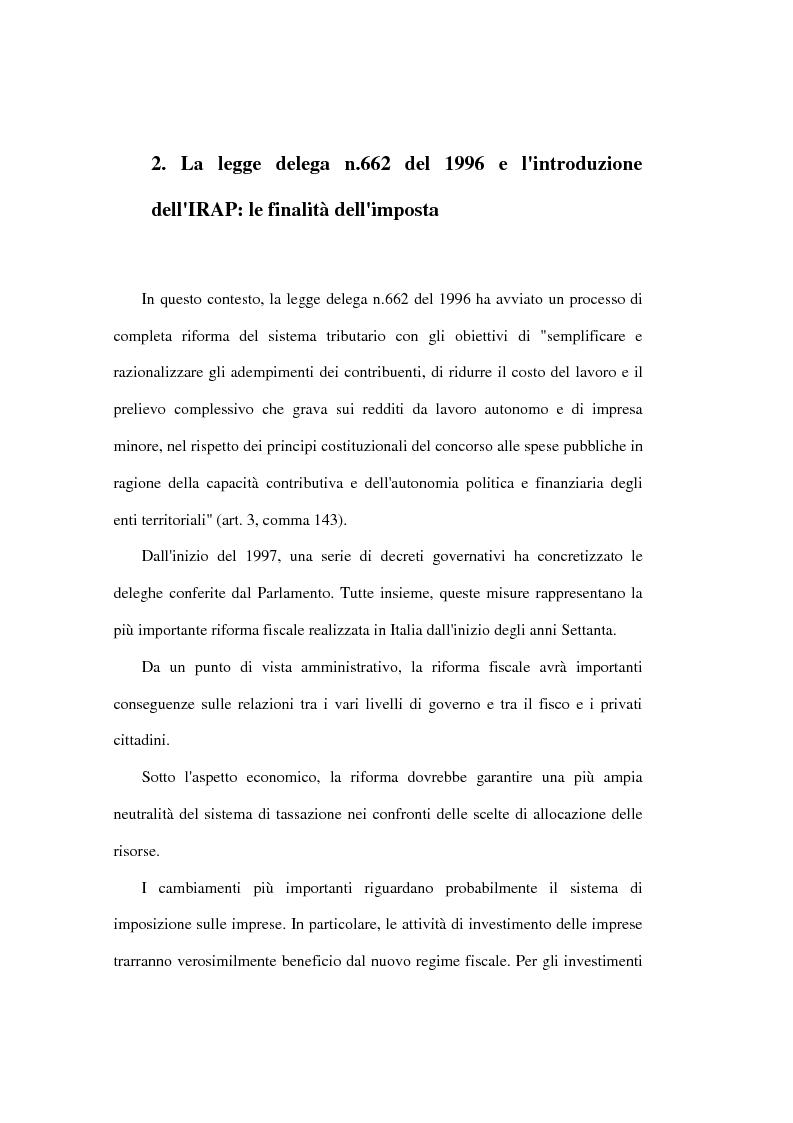 Anteprima della tesi: Valutazione degli effetti economici dell'Imposta Regionale sulle Attività Produttive (Irap), Pagina 4