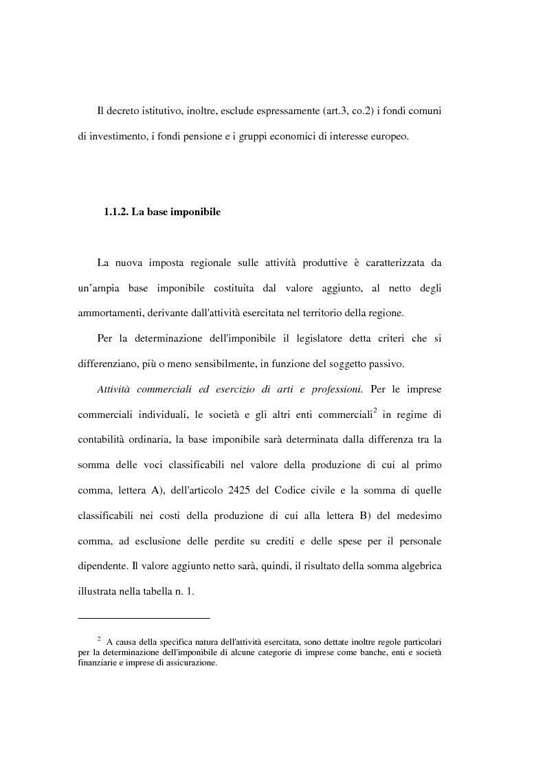 Anteprima della tesi: Valutazione degli effetti economici dell'Imposta Regionale sulle Attività Produttive (Irap), Pagina 8