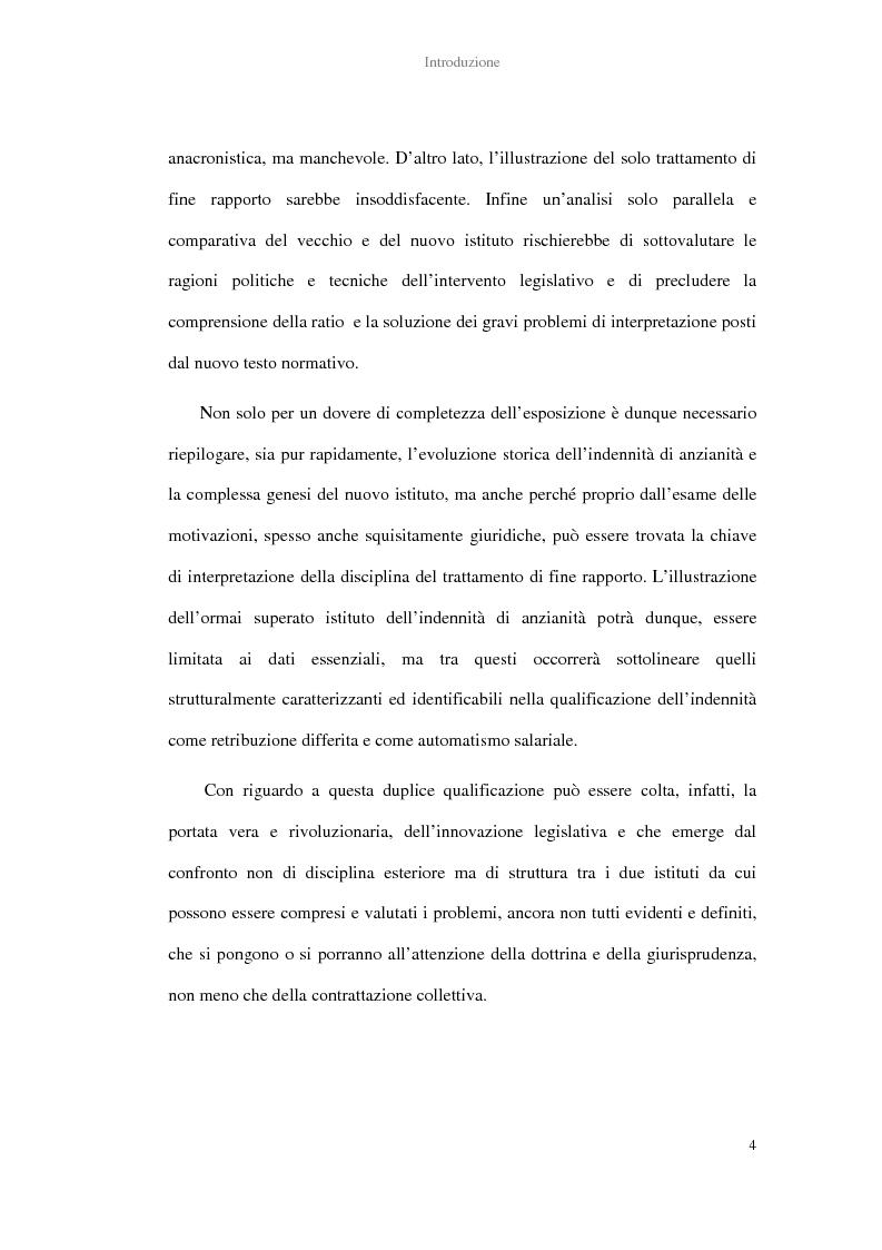 Anteprima della tesi: La determinazione del trattamento di fine rapporto nella giurisprudenza, Pagina 2