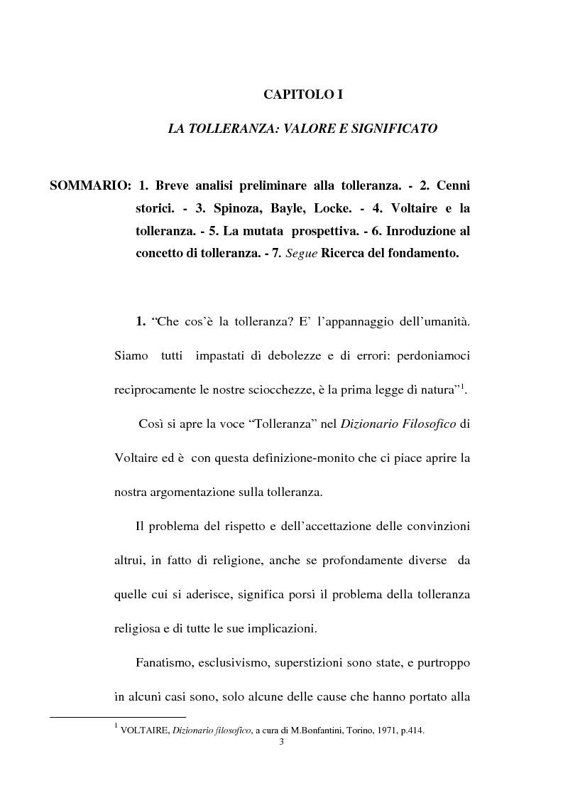 Anteprima della tesi: Il fondamento della tolleranza religiosa nell'ordinamento italiano e negli atti e documenti dell'Unesco, Pagina 1
