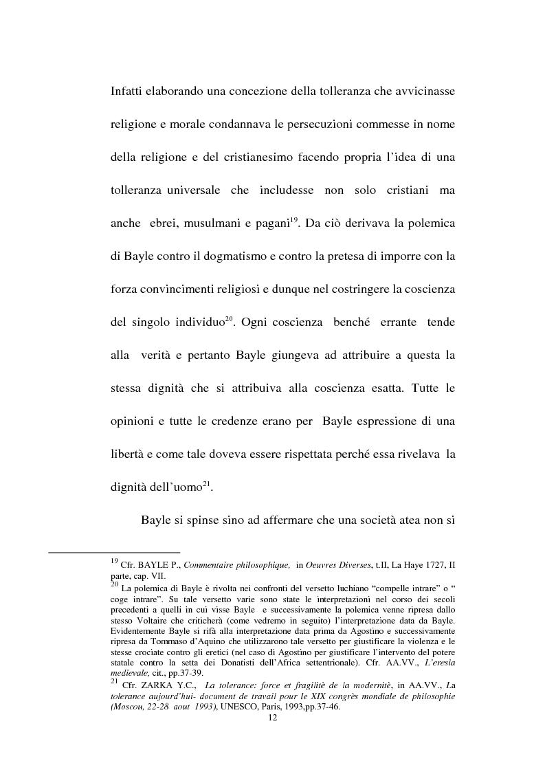 Anteprima della tesi: Il fondamento della tolleranza religiosa nell'ordinamento italiano e negli atti e documenti dell'Unesco, Pagina 10