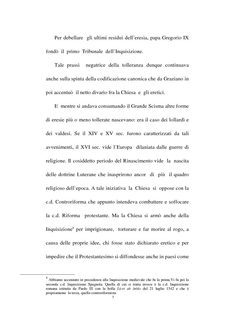 Anteprima della tesi: Il fondamento della tolleranza religiosa nell'ordinamento italiano e negli atti e documenti dell'Unesco, Pagina 5