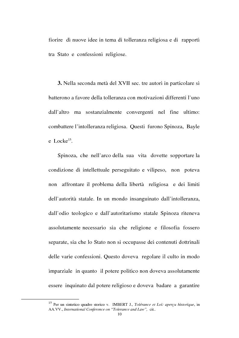 Anteprima della tesi: Il fondamento della tolleranza religiosa nell'ordinamento italiano e negli atti e documenti dell'Unesco, Pagina 8