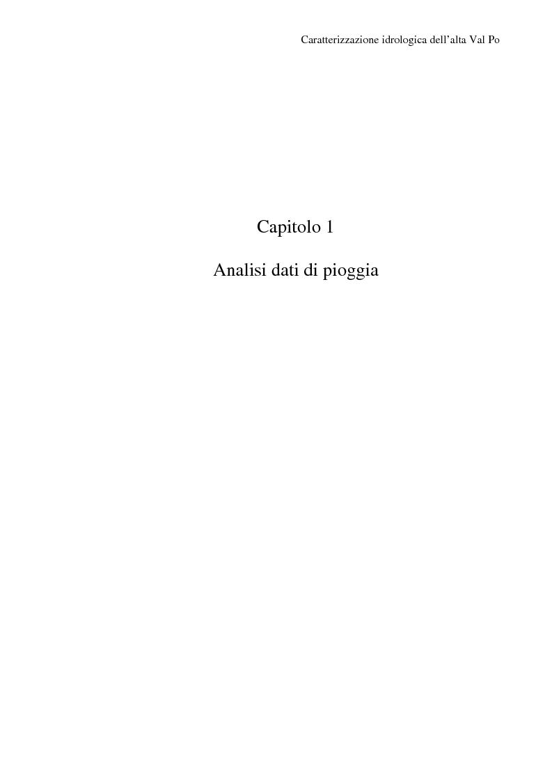 Anteprima della tesi: Caratterizzazione idrologica dell'Alta Val Po, Pagina 5