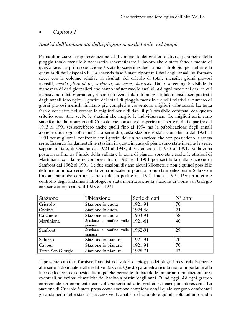Anteprima della tesi: Caratterizzazione idrologica dell'Alta Val Po, Pagina 6