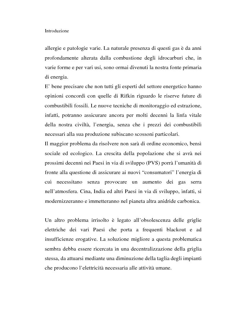 Anteprima della tesi: L'idrogeno: il vettore energetico del futuro. Prospettive di utilizzo nelle applicazioni stazionarie, Pagina 2