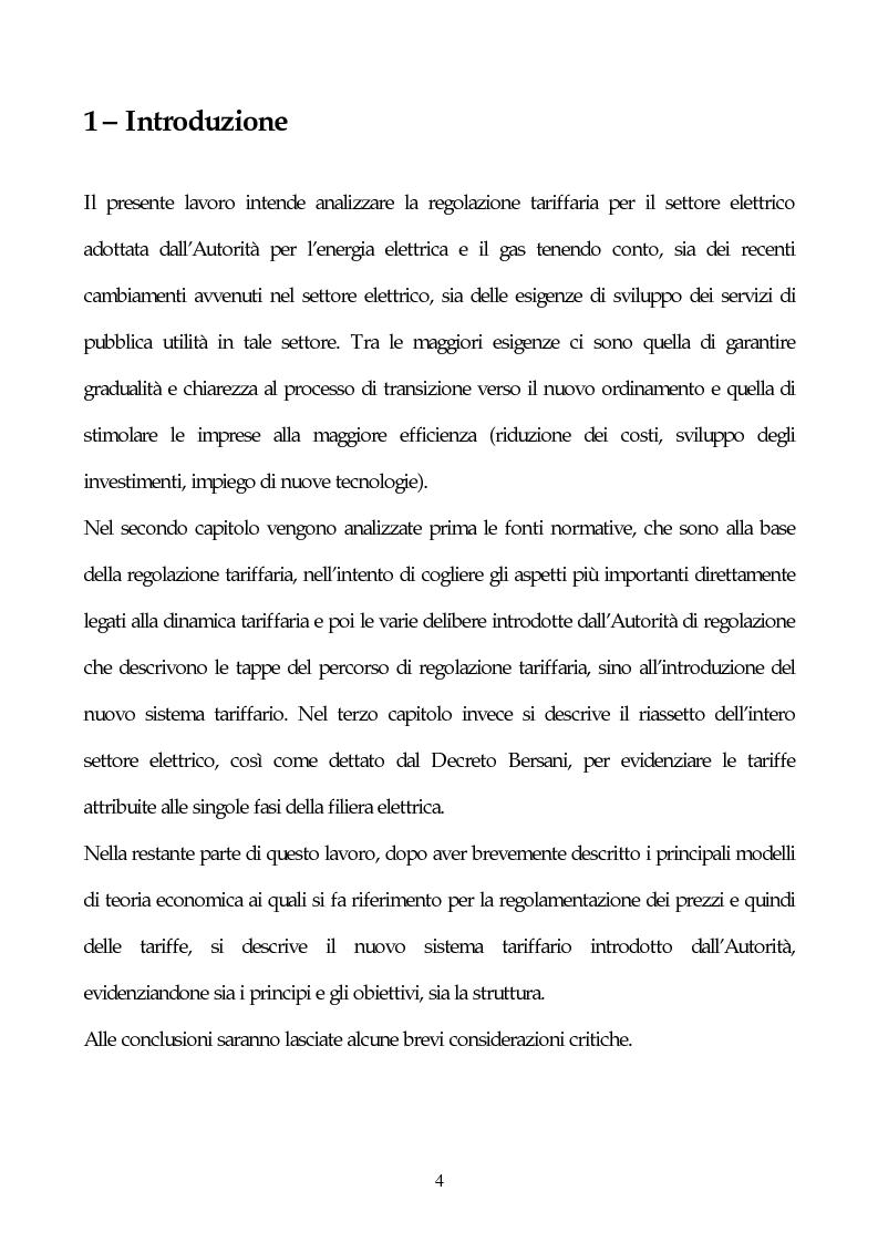 Anteprima della tesi: Il sistema delle tariffe elettriche, Pagina 1