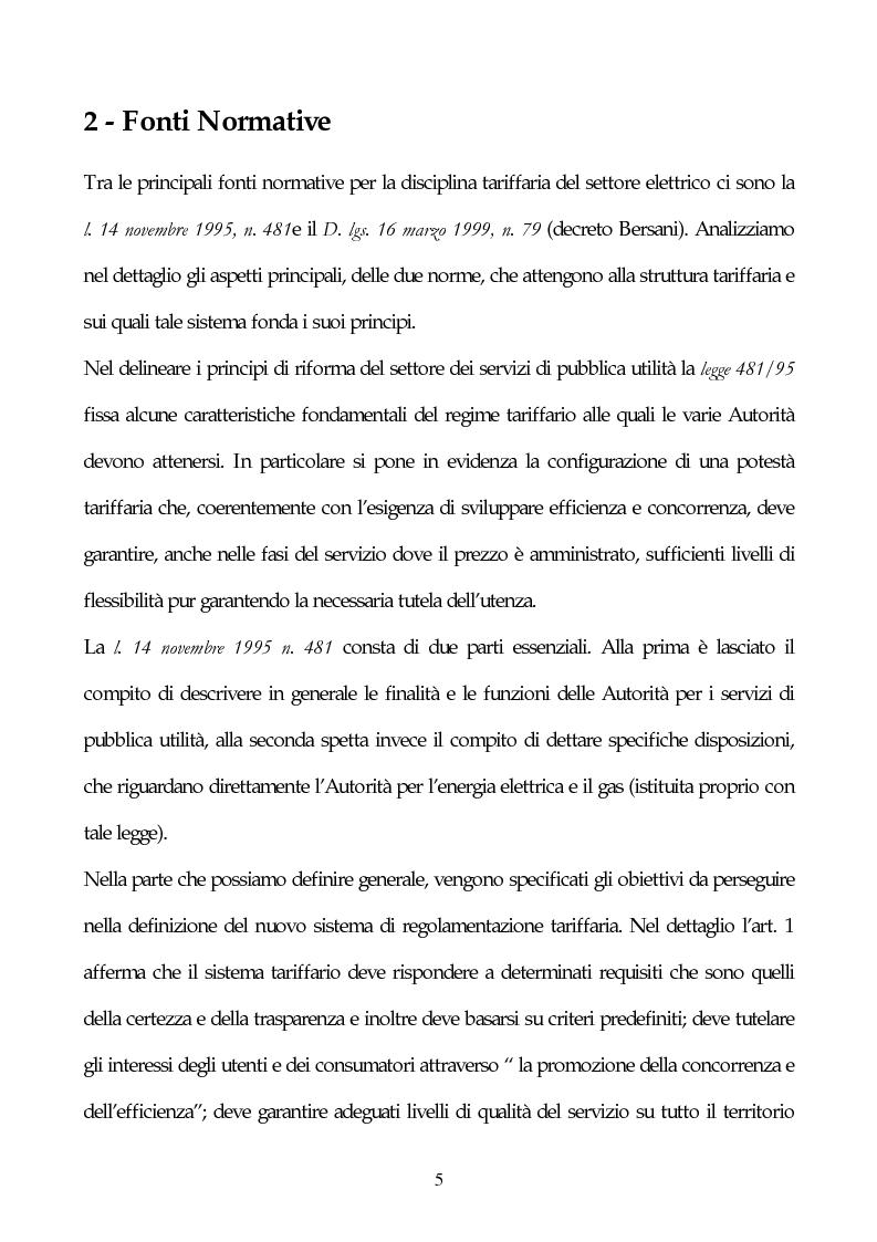 Anteprima della tesi: Il sistema delle tariffe elettriche, Pagina 2