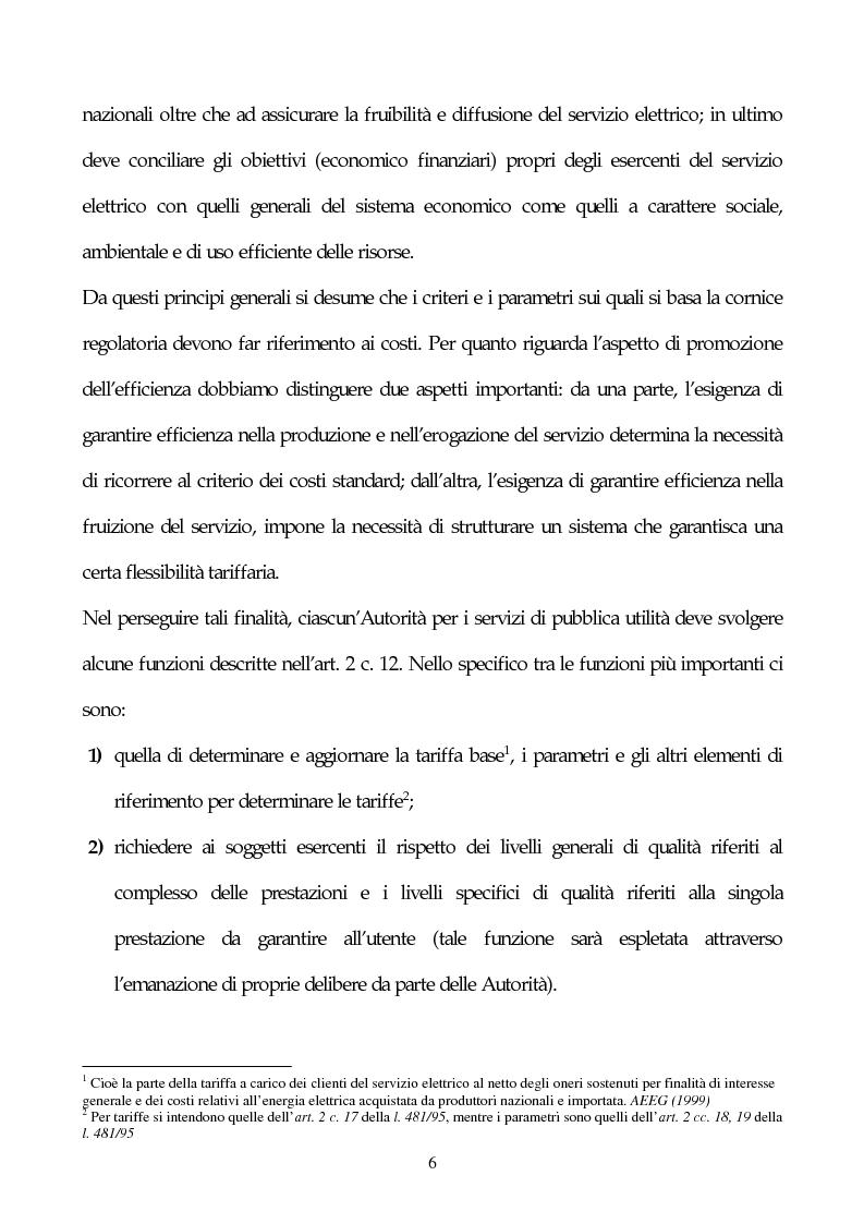 Anteprima della tesi: Il sistema delle tariffe elettriche, Pagina 3