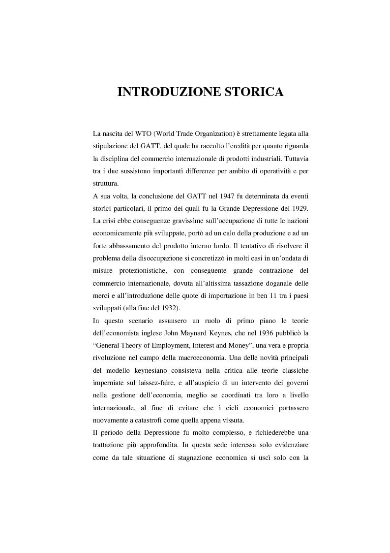 Anteprima della tesi: Il Wto e l'Unione europea, Pagina 1