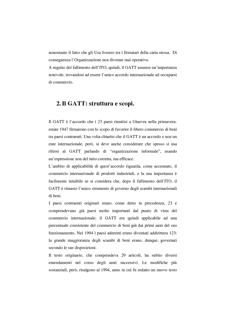 Anteprima della tesi: Il Wto e l'Unione europea, Pagina 4