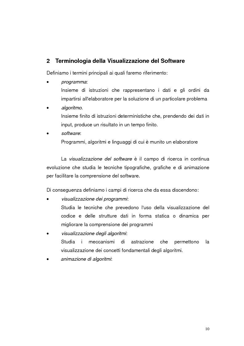 Anteprima della tesi: JLab: un sistema per la creazione di animazioni di algoritmi. Gestione degli algoritmi, Pagina 6