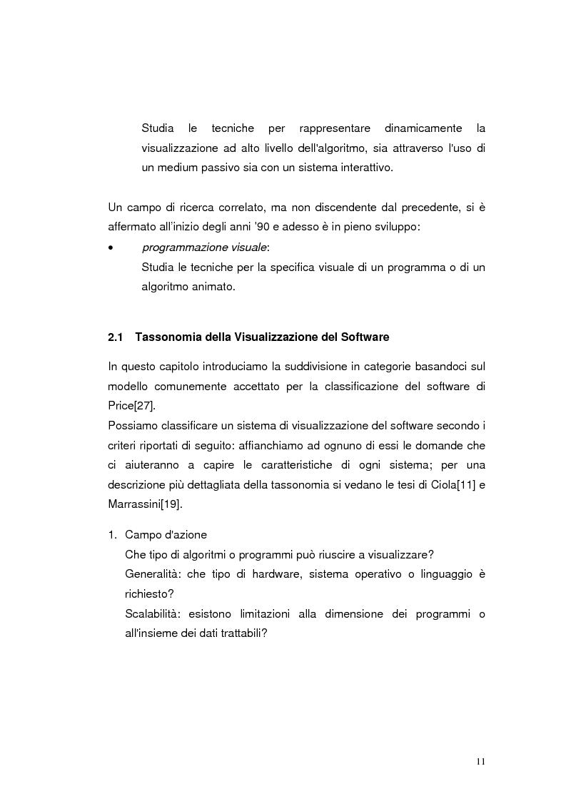 Anteprima della tesi: JLab: un sistema per la creazione di animazioni di algoritmi. Gestione degli algoritmi, Pagina 7